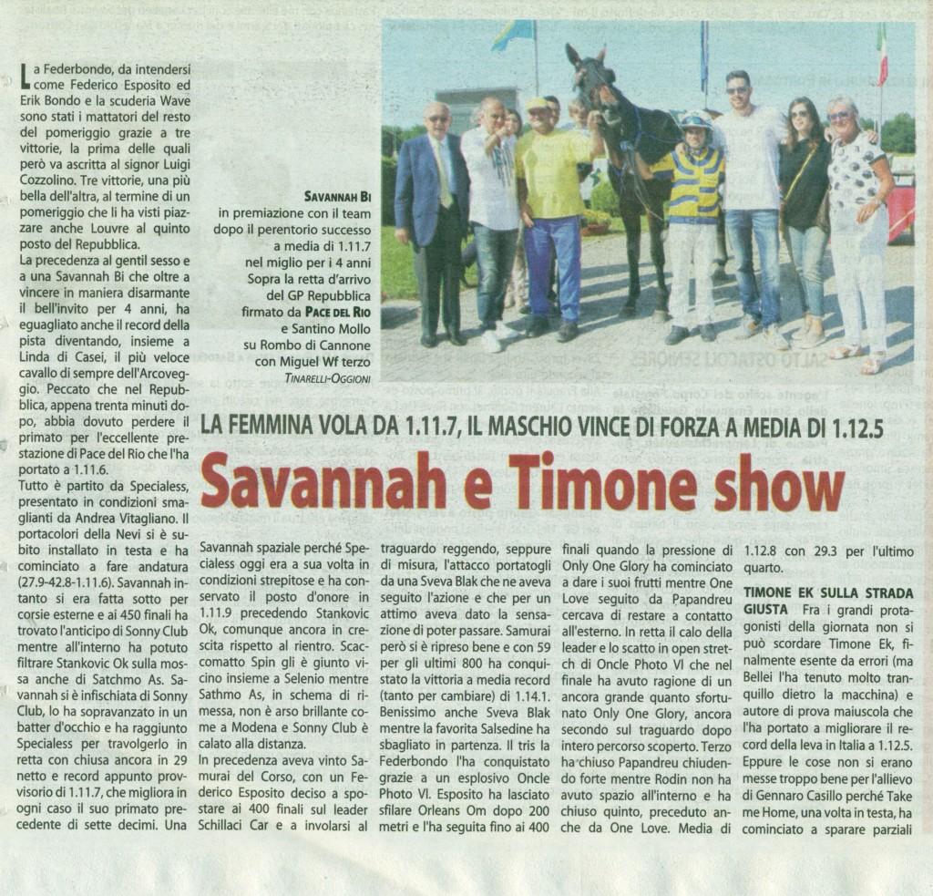 Savannah e Timone show