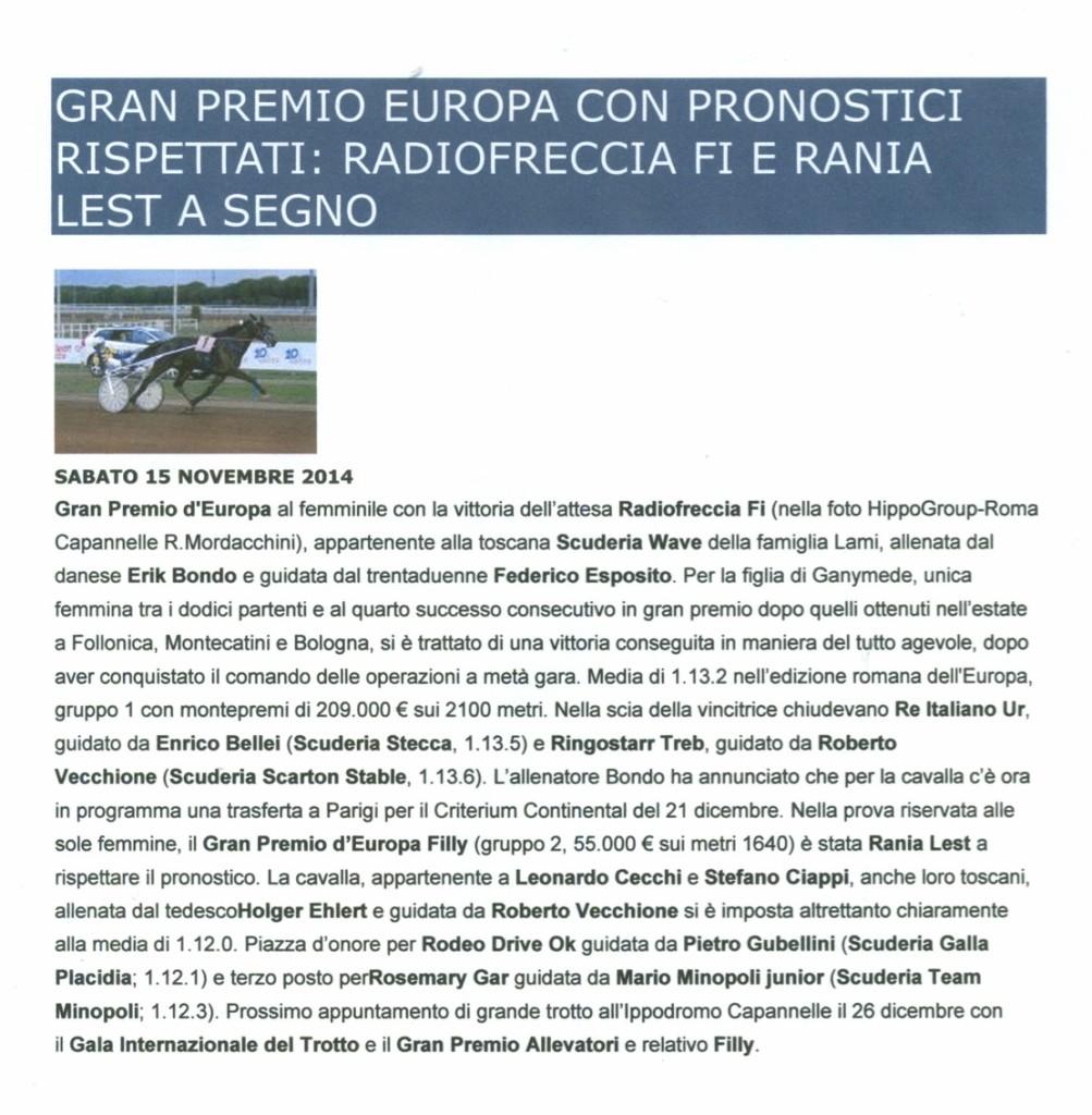 Radio Freccia Gran Premio